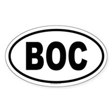BOC Oval Decal