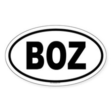 BOZ Oval Decal