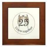 25th Anniversary Framed Tile