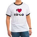I LOVE BINGO Ringer T ,PLEASE VIEW BACK