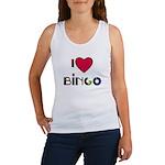 I LOVE BINGO Women's Tank Top WITH CARD MARKER