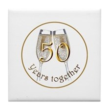 50th Anniversary Tile Coaster