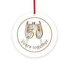 50th Anniversary Ornament (Round)
