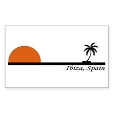 Ibiza, Spain Rectangle Decal