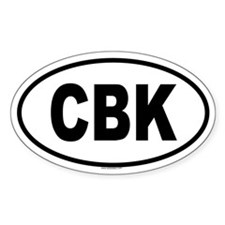 CBK Oval Decal