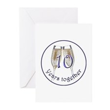 10th Anniversary Greeting Cards (Pk of 20)