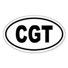 CGT Oval Decal