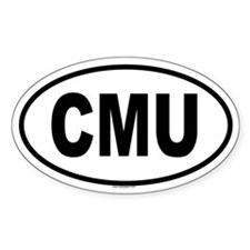 CMU Oval Decal