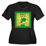 Murphy's Irish Pub Women's Plus Size V-Neck Dark T