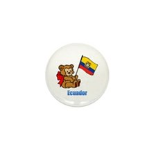 Ecuador Teddy Bear Mini Button (100 pack)