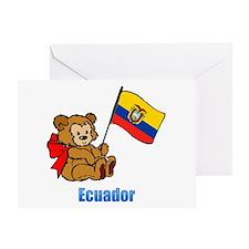 Ecuador Teddy Bear Greeting Card