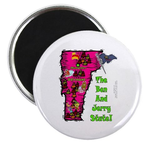 "VT-Ben & Jerry! 2.25"" Magnet (10 pack)"