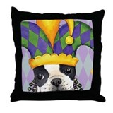 Party Boston Terrier Throw Pillow