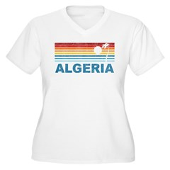 Palm Tree Algeria Women's Plus Size V-Neck T-Shirt