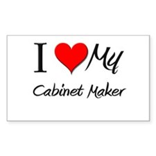 I Heart My Cabinet Maker Rectangle Decal