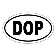 DOP Oval Decal