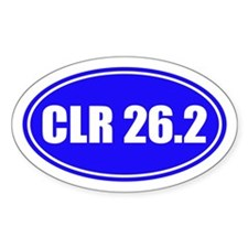 Crater Lake Rim 26.2 Oval Decal