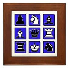 Chess Collage Framed Tile