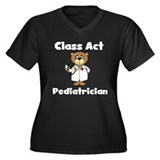 Class Act Pediatrician Women's Plus Size V-Neck Da