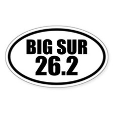 Big Sur Marathon 26.2 Oval Decal