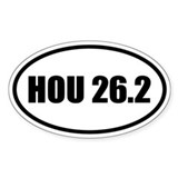 Houston Marathon 26.2 Oval Decal