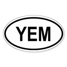 Yemen Oval Decal