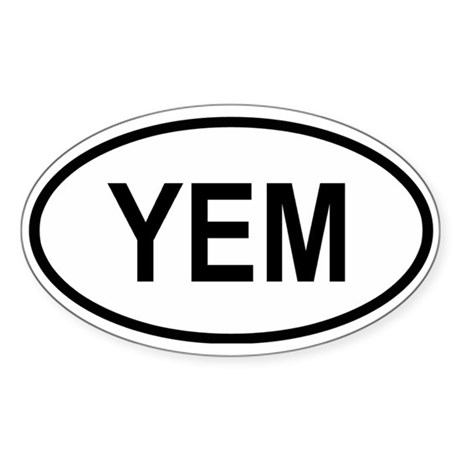 Yemen Oval Sticker