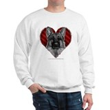 German Shepherd K9 Valentine Sweatshirt