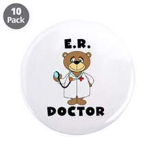 "ER Doctor 3.5"" Button (10 pack)"