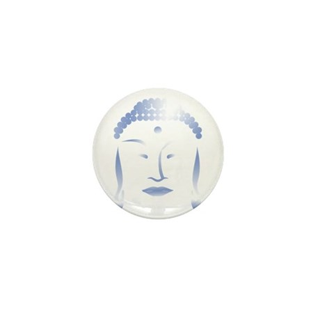 Buddha Head Mini Button (10 pack)