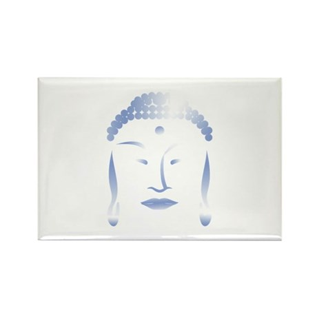 Buddha Head Rectangle Magnet (10 pack)