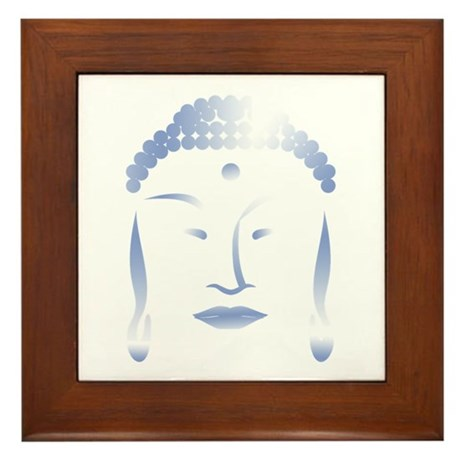 Buddha Head Framed Tile