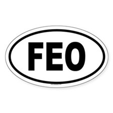 FEO Oval Decal