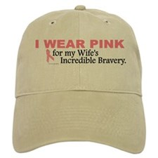 Pink For My Wife's Bravery 1 Baseball Cap