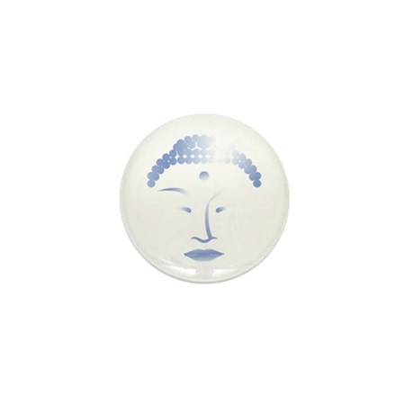 Buddha Head 2 Mini Button (10 pack)