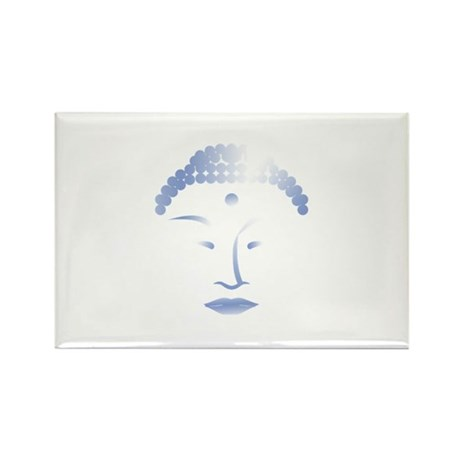 Buddha Head 2 Rectangle Magnet (100 pack)