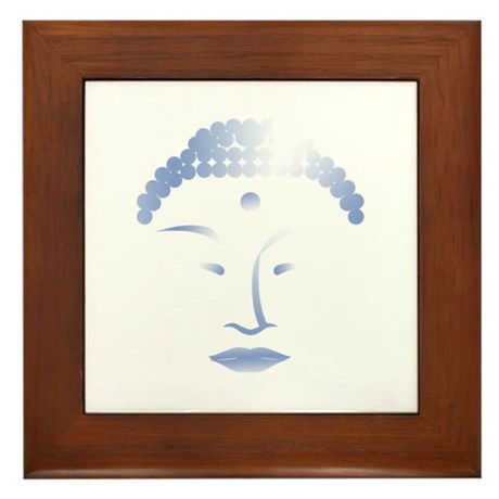 Buddha Head 2 Framed Tile