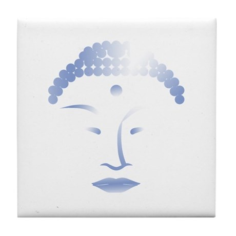 Buddha Head 2 Tile Coaster
