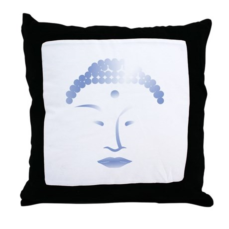 Buddha Head 2 Throw Pillow