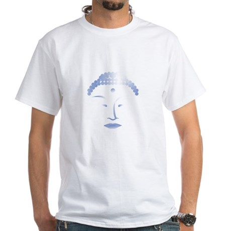 Buddha Head 2 White T-Shirt