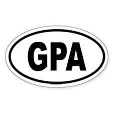 GPA Oval Decal