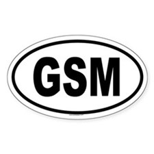 GSM Oval Decal