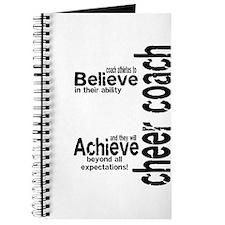 """Cheer Coach """"believe"""" Journal"""