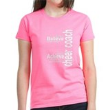 "Cheer Coach ""Believe"" Colors Tee"