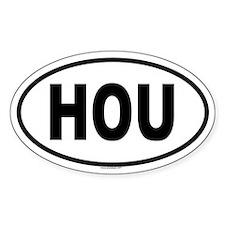 HOU Oval Decal
