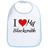 I Heart My Blacksmith Bib