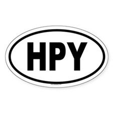HPY Oval Decal