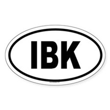 IBK Oval Decal