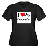 I Heart My Biographer Women's Plus Size V-Neck Dar