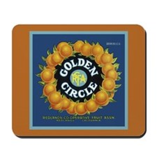 Golden Circle Orange Crate La Mousepad